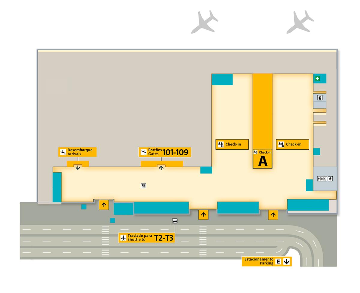 Terminal 1 ❶ Aeroporto de Guarulhos
